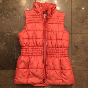 Coral Puffer Vest